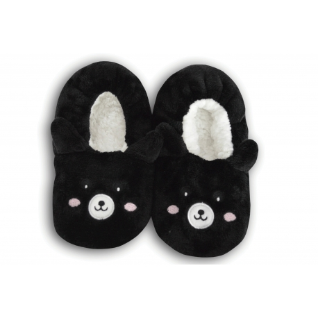 Čierne nízke detské papuče s obrázkom