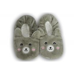 Sivé nízke detské papuče s obrázkom