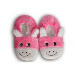 Ružové nízke detské papuče s obrázkom