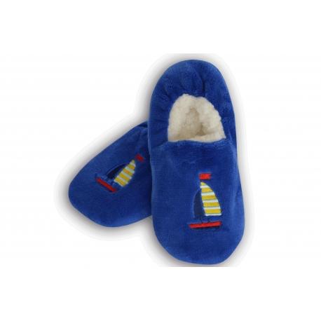 Chlapčenské jednofarebné papuče s loďkou