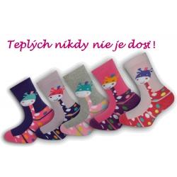 Výhodné 5 - balenie teplých dievčenských ponožiek