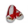 Červené papuče s mikulášom