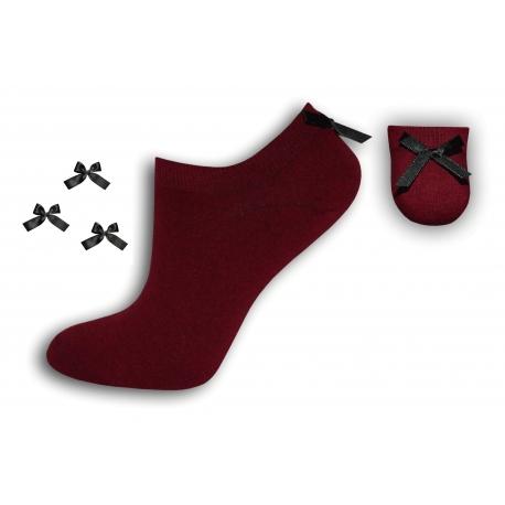 Dámske módne bavlnené kvalitné ponožky s mašličkou