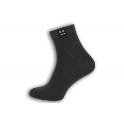 Luxusné  tm. sivé ponožky s vyšším kotníkom