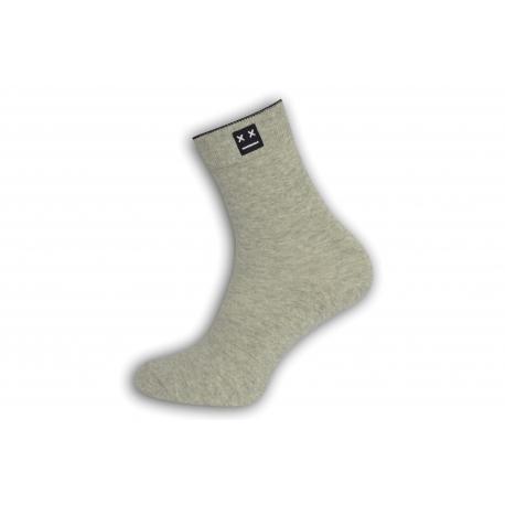 Luxusné  bl. sivé ponožky s vyšším kotníkom