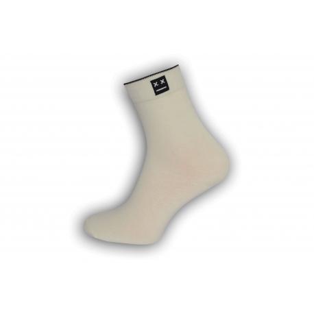 Luxusné biele ponožky s vyšším kotníkom