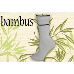 Bambusové dámske  ponozky s lemom