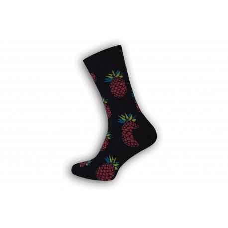 Vzorované pánske ponožky s ananásom