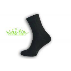90% bavlnené pánske ponožky – tm. sivé