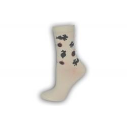Vzorované maslové ponožky so zajacmi
