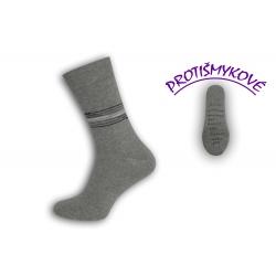 Sivé pánske ponožky protišmykové