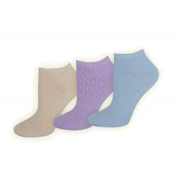 Super zdravotné bavlnené dámske ponožky 3-páry