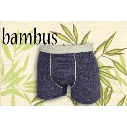 Modré vzorované bambusové boxerky
