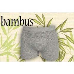 Sivé vzorované bambusové boxerky