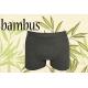 Jednofarebné sivé boxerky z bambusu