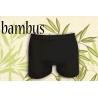 Jednofarebné čierne boxerky z bambusu