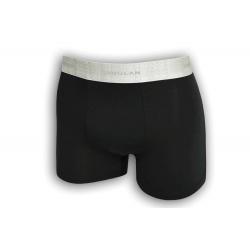 Čierne boxerky so striebornou gumou