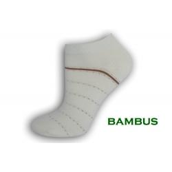 Smotanové bambusové kotníkové ponožky