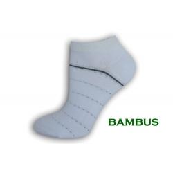 Biele bambusové ponožky so vzorom
