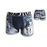 Modré boxerky s vlkmi