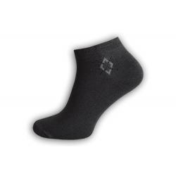 Jedinečné bambusové ponožky - tm.sivé