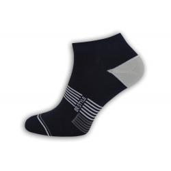 Čierne vzorované nízke ponožky