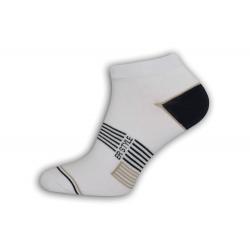 Biele vzorované nízke ponožky
