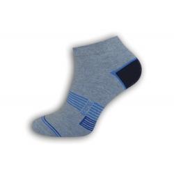 IBA 43-46! Modré vzorované nízke ponožky