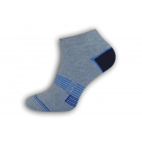 Modré vzorované nízke ponožky