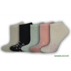 Kotníkové ponožky z bambusu - 5 párov