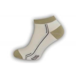 98% bavlnené pánske ponožky - smotanové