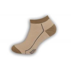 98% bavlnené pánske ponožky – bl. hnedé