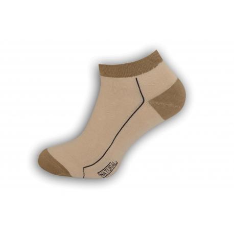 98% bavlnené pánske ponožky – kapučíno