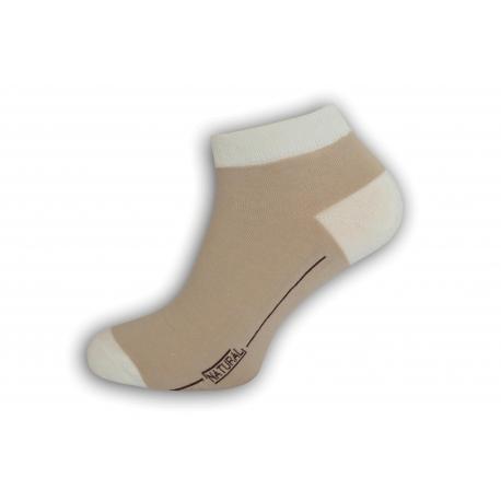 98% bavlnené pánske ponožky - béžové