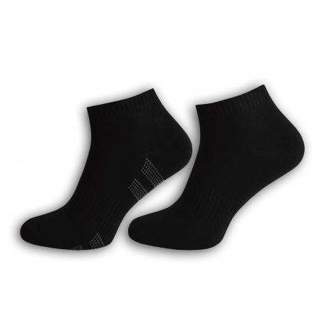 Čierne kotníkové pánske ponožky 2-páry