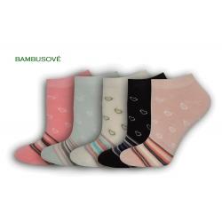 Bambusové dámske ponožky - 5 párov