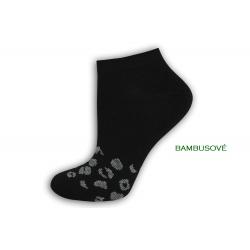 IBA 35-38! Čierne bambusové dámske ponožky