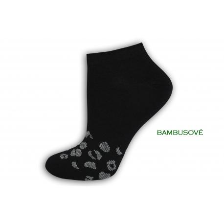Čierne bambusové dámske ponožky