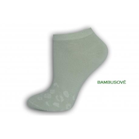 Hráškové bambusové dámske ponožky