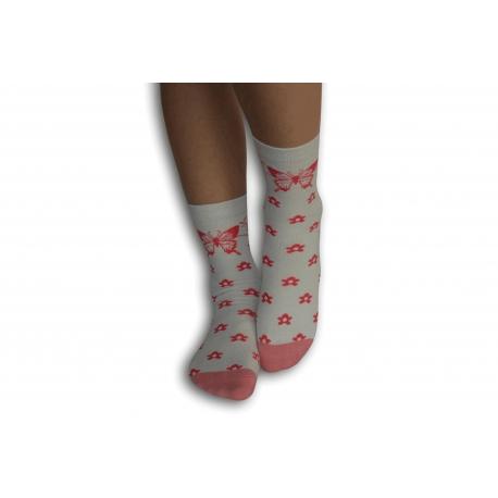IBA 32-35! Dievčenské ponožky s motýľom