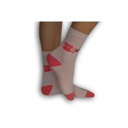 IBA 32-35! Ružové ponožky s mačičkou