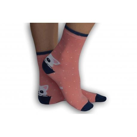 IBA 32-35!Dievčenské  ponožky s mackom