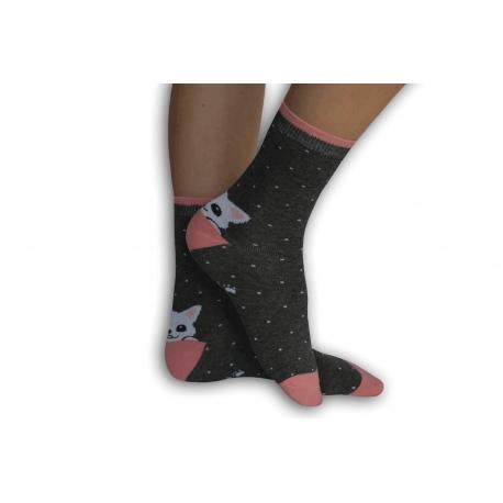 IBA 32-35! Dievčenské  ponožky s mackom