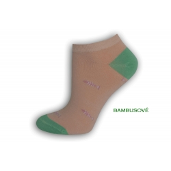 Bambusové púdrové ponožky s rybkami