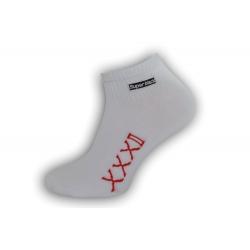 IBA 39-42! Štýlové biele pánske ponožky
