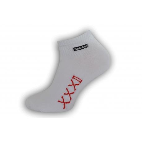 Štýlové biele pánske ponožky