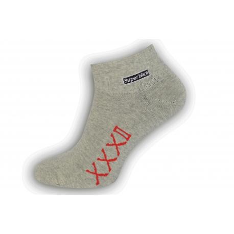 Štýlové sivé pánske ponožky