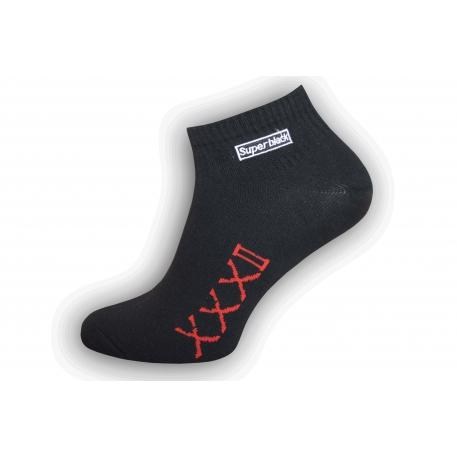 Štýlové čierne pánske ponožky