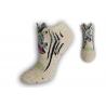 Kotníkové ponožky so zebrou - kapučíno