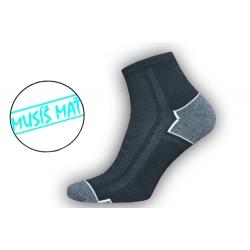 Čierne športové pánske ponožky